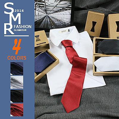 領帶-韓素紋寬版領帶-簡約款《0030554-170》黑.紅.銀.深藍【現貨+預購】『SMR』