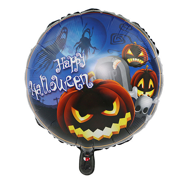 【BlueCat】萬聖節暗黑18吋圓球鋁膜氣球 佈置