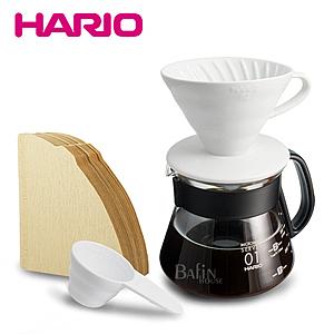 HARIO 2人份 陶瓷濾杯 濾紙 咖啡壺組