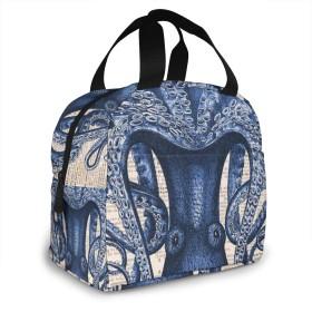 保冷バッグ エコバッグ ランチバッグ 買い物バッグ 青いタコ 手提げバッグ おしゃれ 保冷保温