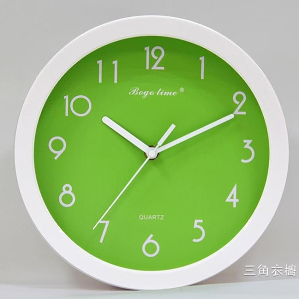 10寸田園鐘表可愛卡通時鐘靜音掛鐘創意掛表兒童房臥室客廳石英鐘WY