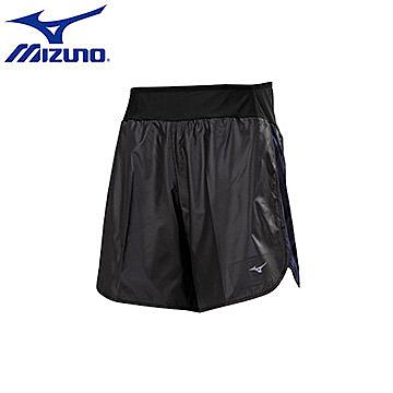 【美津濃MIZUNO】男 RUNNING 路跑短褲 單層 輕量 腰部彈性 - J2TB655591(黑X黑紋)[陽光樂活]