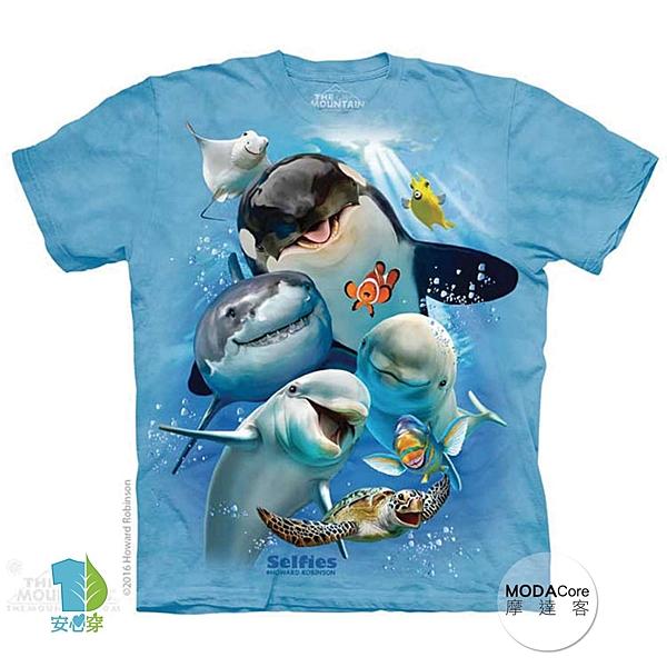 【摩達客】(預購)美國進口The Mountain 海洋動物哦耶 純棉環保短袖T恤(YTM104174986007)