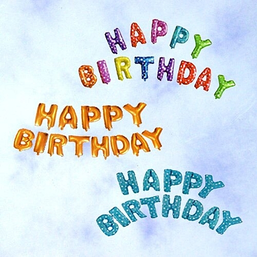 生日快樂字母錫箔氣球(隨機出貨),派對/錫箔汽球/氣球/求婚,節慶王【W275049】