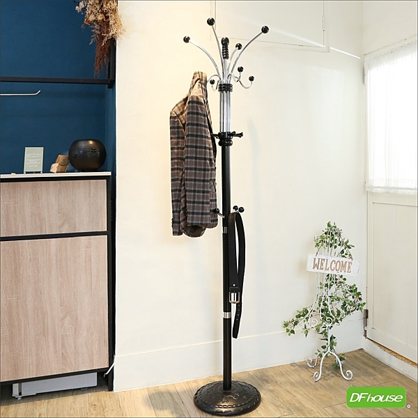 《DFhouse》貝拉衣帽架(吊掛雙倍 20個掛勾 ) 穿吊衣架- 收納架 晾衣架 毛巾架 客廳 臥室 展示空間