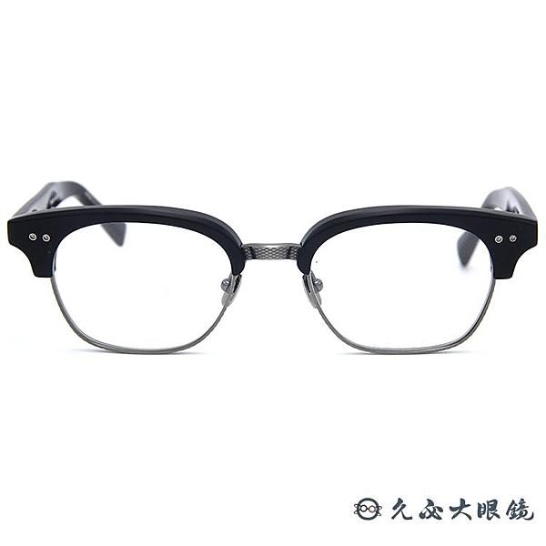 DITA 頂級眼鏡品牌 純鈦 眉框 近視眼鏡 Statesman Two 黑-槍銀 久必大眼鏡