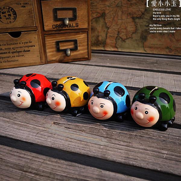 【金龜子的春天:存錢罐】鄉村田園陶瓷擺件4個組