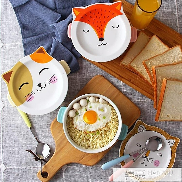 泡面碗帶蓋陶瓷方便面碗單個可愛少女心日式大號學生飯盒宿舍卡通  韓慕精品