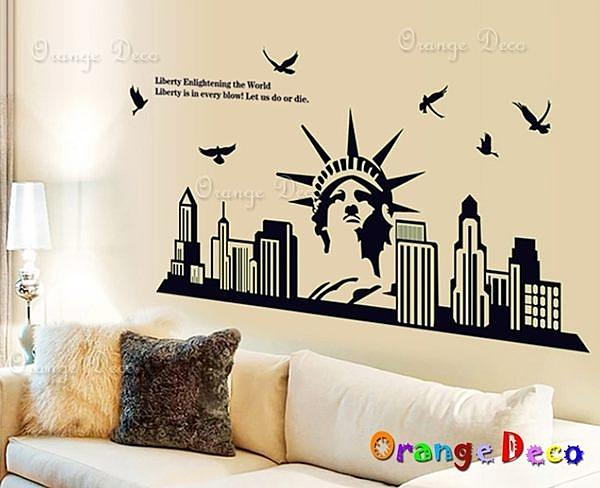 壁貼【橘果設計】夜光自由女神 DIY組合壁貼/牆貼/壁紙/客廳臥室浴室幼稚園室內設計裝潢