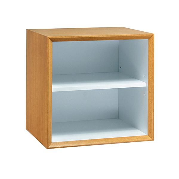 【采桔家居】馬歐 時尚1尺開放式二格收納櫃(三色可選)