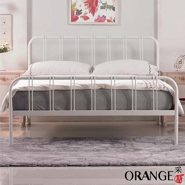 【采桔家居】夢露   現代風5尺雙人鐵製床台(二色可選+不含床墊)