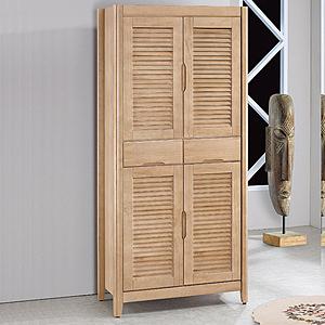 【YFS】傑森3x6尺百葉高鞋櫃83x40.5x174cm(兩色可選)原木色+白色