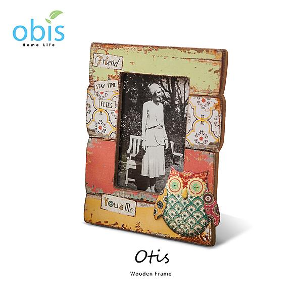 AA012-Otis貓頭鷹拼貼鄉村風木質相框/預購(OBS/13MX37846QLA1貓頭鷹相框)【DD House】