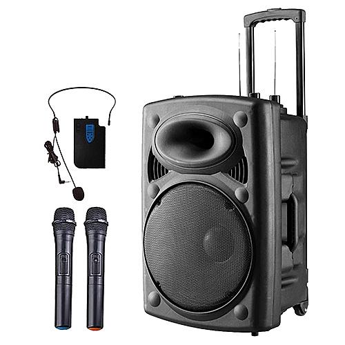 大聲公旗典型12吋無線式多功能行動音箱/喇叭/無線麥克風/教學擴音器