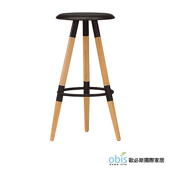 OB003-席貝兒吧椅(黑)(19CM/1044-7)【DD House】
