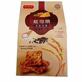 3包特惠 膳體家 起司燒生機蘇打餅黑椒岩鹽 250g/包