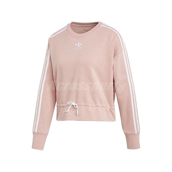 adidas 長袖T恤 Bellista Sweatshirt 粉紅 白 女款 運動休閒 【ACS】 EC1904