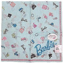 【波克貓哈日網】日系Barbie手帕◇配件圖案◇《 58x58 cm 》淡藍色