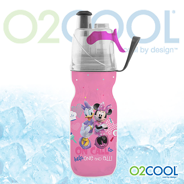 O2 COOL 鯨魚水壺12oz可噴霧 迪士尼版『米妮』登山|戶外|慢跑|路跑|運動|運動水壺 HMCM12