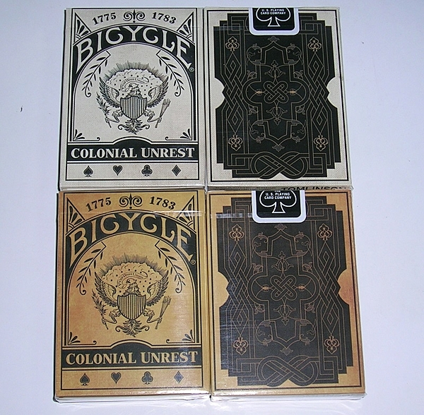 【USPCC 撲克】Bicycle colonial unrest Playing Card 白盒/黃盒
