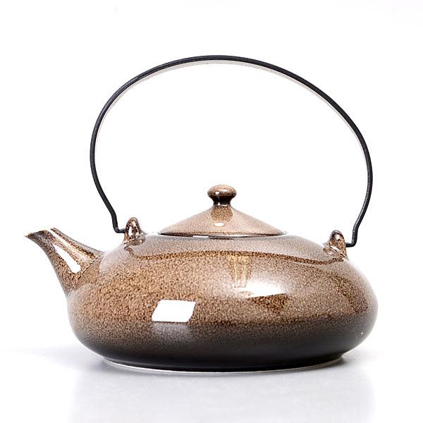【Luzerne】陸升瓷器 Rustic 435ml 提把茶壺-咖啡色  /RT1308043