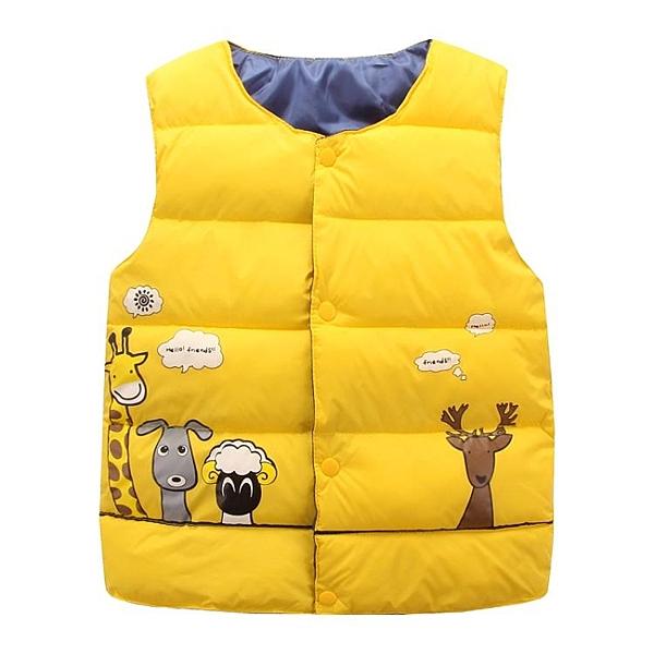 兒童羽絨棉馬甲背心秋冬保暖中大童坎肩男女童寶寶外出服