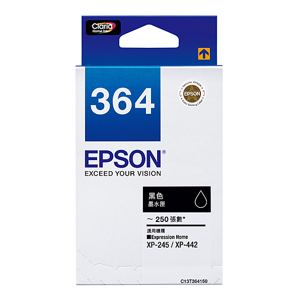 【享印科技】EPSON NO.364 原廠黑色墨水匣 T364150