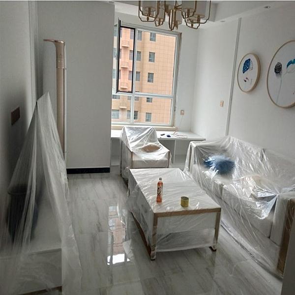 防塵布 一次性防塵罩床罩防塵布遮蓋家用防塵裝修防油漆沙發罩環保塑料膜【快速出貨】