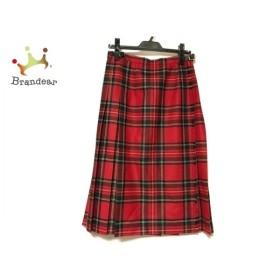 オニール 巻きスカート サイズ44 L レディース 美品 レッド×グリーン×マルチ チェック柄 新着 20191110