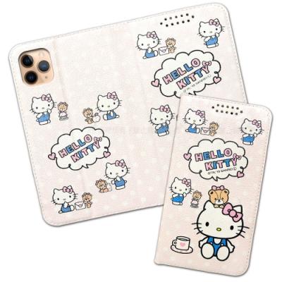 三麗鷗授權 iPhone 11 Pro Max 6.5吋 粉嫩系列彩繪磁力皮套(小熊)