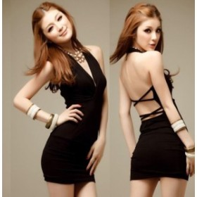 E33a 【ブラック】ポイント消化 新品 超セクシー キャバ嬢 ナイトドレス ワンピース ボディコン レディース コスプレ衣装 ランジェリー