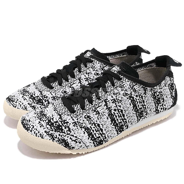 【三折特賣】Asics 復古慢跑鞋 Mexico 66 Knit 黑 白 編織鞋面 鬼塚虎 男鞋 女鞋【ACS】 D703N9090