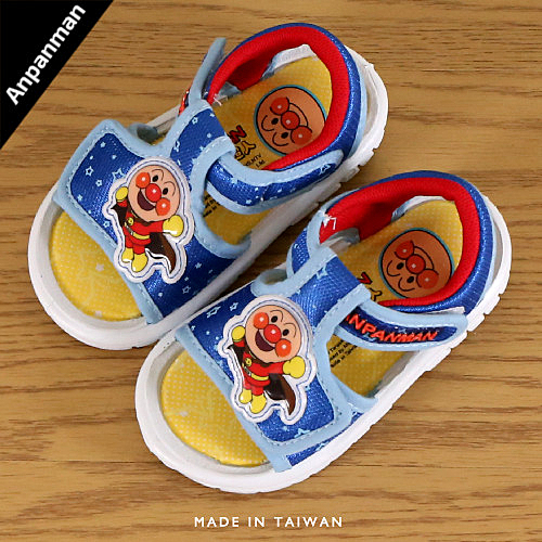 男童 2019年 ANPANMAN 麵包超人 魔鬼氈輕便 涼鞋 學歩鞋 寶寶鞋 嬰兒鞋 正版售權 MIT製造 59鞋廊