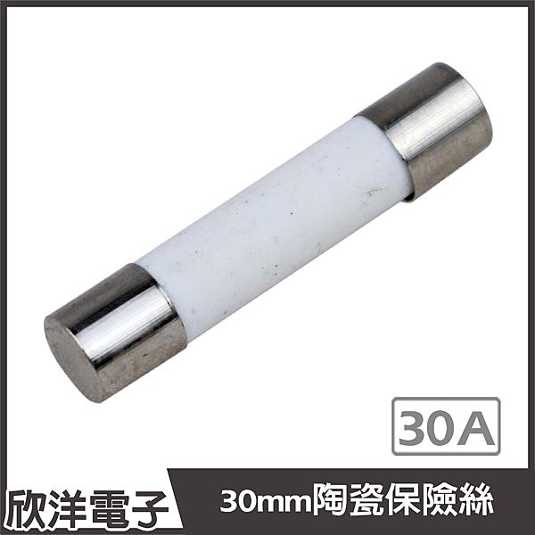 30mm 耐熱陶瓷管保險絲 30A