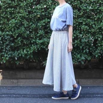 チェックのボリュームスカート〜gray〜