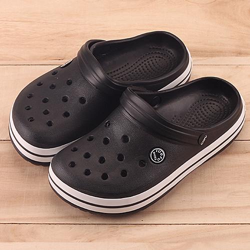 女款 涼拖兩穿式 布希鞋 洞洞鞋 園丁鞋 拖鞋 黑色 59鞋廊