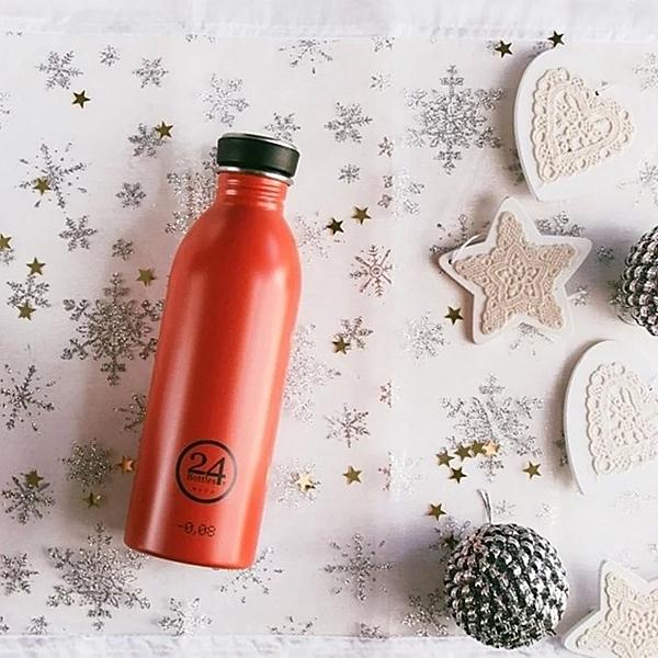【24Bottles】城市水瓶 500ml -熱火紅 超輕水瓶 不鏽鋼 好攜帶 好清洗
