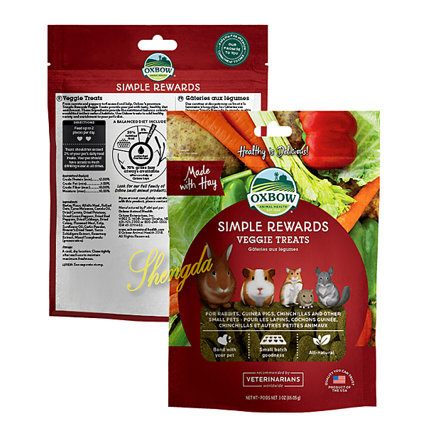 《美國OXBOW》輕食美味系列 蔬菜牧草零食