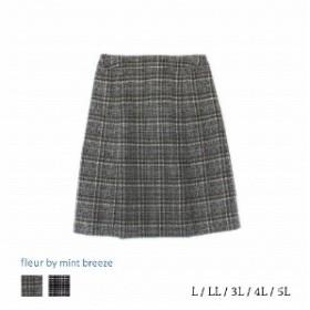 シャギーチェックAラインスカート【LL~5L】
