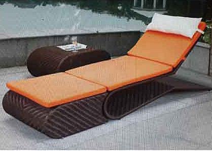 【南洋風休閒傢俱】戶外躺椅系列 - 編藤躺椅 造型躺床 戶外休閒躺床 游泳池躺椅 666-4