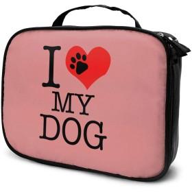 Jingoo 犬が大好き 化粧ポーチ メイクバッグ バニティケース 小物入れ 旅行 折り畳み 大容量
