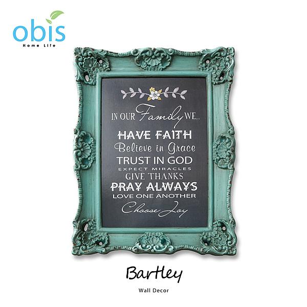 AA012-Bartley立體雕花復古風字牌/預購(OBS/13S404B7Q1樹脂製壁掛)【DD House】