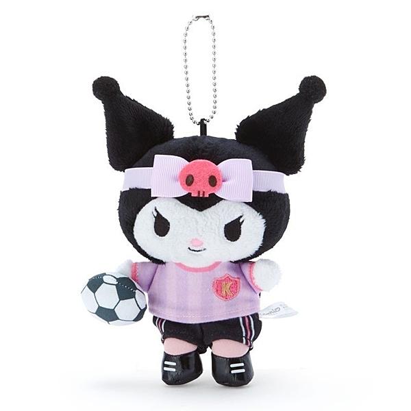 〔小禮堂〕酷洛米 絨毛玩偶娃娃吊飾《紫黑》掛飾.鑰匙圈.東京奧運系列 4901610-81383