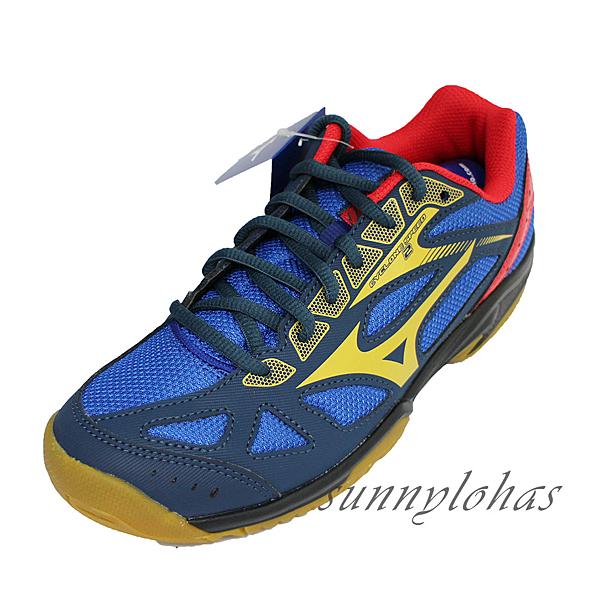 (A9) MIZUNO美津濃 女鞋 CYCLONE SPEED 2 排球鞋 羽球鞋 避震 V1GA198050深藍 [陽光樂活]