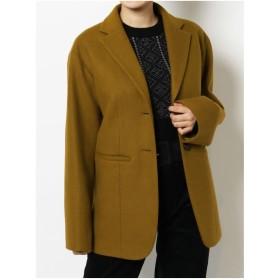 EVRIS ルーズジャケットコート(ブラウン)