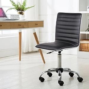 E-home Lindsey琳賽可調式電腦椅-黑色