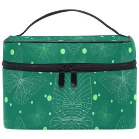 緑の蝶化粧品袋オーガナイザージッパー化粧バッグポーチトイレタリーケースガールレディース