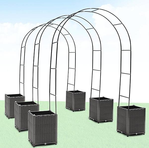 種植箱 拱形爬藤架子戶外簡易鮮花拱門花卉爬藤植物蔬菜種植架子子 - 夢藝家