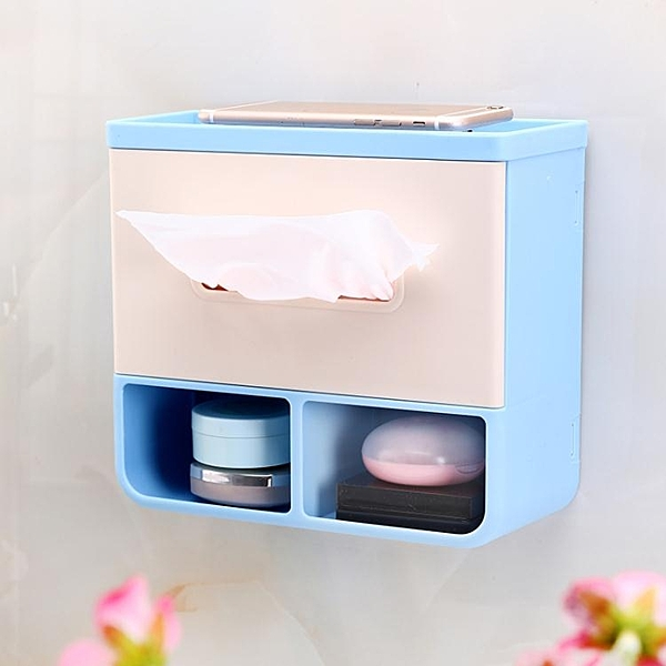 衛生間紙巾盒廁紙盒衛生紙盒廁所紙巾架洗手間手紙盒抽紙盒免打孔【快速出貨】