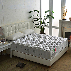 【睡芝寶】飯店級竹碳抗菌除臭防潑水蜂巢獨立筒床墊單人3.5尺